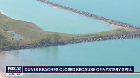 Indiana Dunes National Park beaches closed after steel factory dumps 'rusty liquid' into waterway