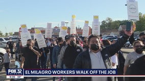 Chicago El Milagro workers walk off the job
