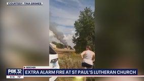 St. Paul Lutheran Church in Beecher a total loss after fire