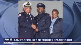 Family of Chicago firefighter wounded in mass shooting speaks out