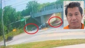 Driver who allegedly ran over motorcyclist doesn't have a license