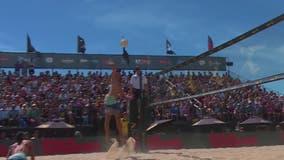 Beach volleyball taking over Oak Street Beach for AVP Chicago Open