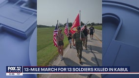 Chicago area veterans hike 13 miles to honor 13 soldiers killed in Kabul