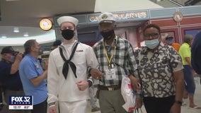 Cook County clerk welcomes Honor Flight home