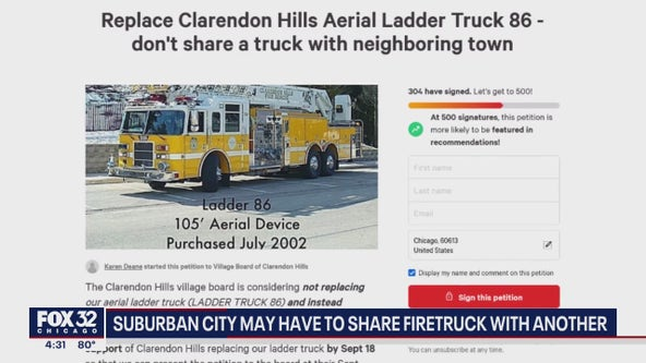 Clarendon Hills residents concerned their city may have to share firetruck with another town
