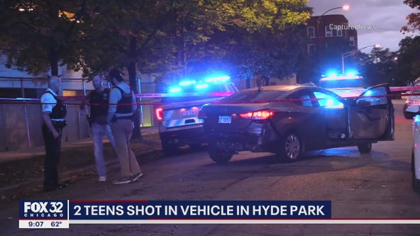 2 teens shot while sitting in car in Hyde Park: police
