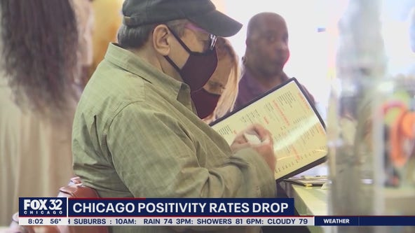 Chicago sees COVID positivity rates drop as delta variant wains