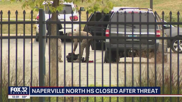 Naperville North High School closed after bomb threat
