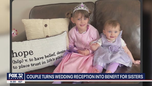 Illinois couple turns wedding reception into benefit for young sisters