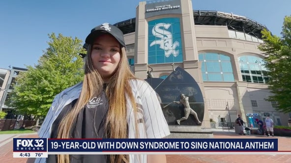 19-year-old with Down syndrome sings National Anthem at White Sox game