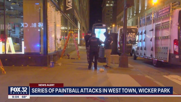 Several people shot with paintballs Tuesday in Wicker Park