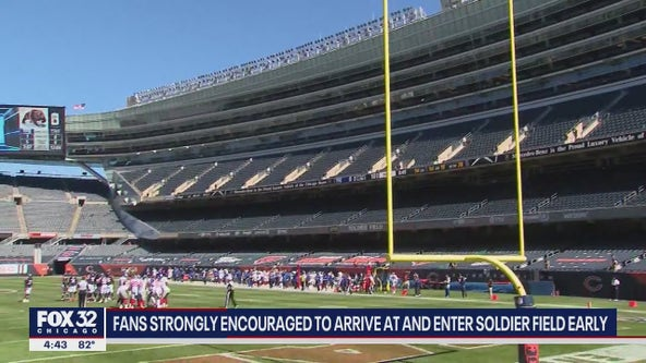 Chicago Bears urge fans to arrive early for the first home game of the season