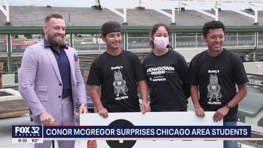 Conor McGregor surprises Chicago area student-athletes