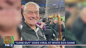 'Cane guy' goes viral at White Sox game