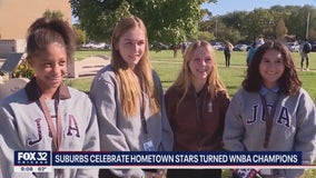 Chicago suburbs celebrate hometown stars turned WNBA champions