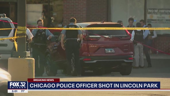 Chicago cop shot in the face in Lincoln Park released from the hospital Monday night