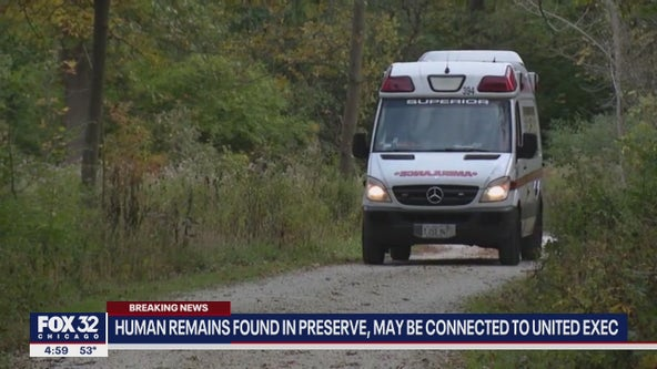 Human remains found at forest preserve where missing United Airlines executive's car was found last year