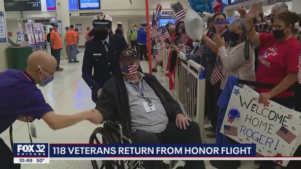 Veterans on Honor Flight land at Midway Airport: 'best experience of my life'