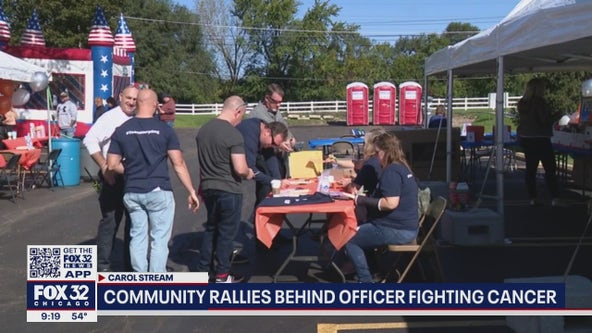 Fundraiser held for Wheaton police officer Chris Harpling, who has cancer