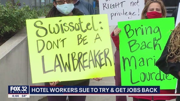 Chicago hotel workers laid off due to pandemic suing to get their jobs back