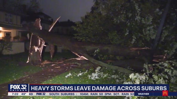 Nearly 7,000 without power, 100+ canceled flights after overnight storms across Chicagoland