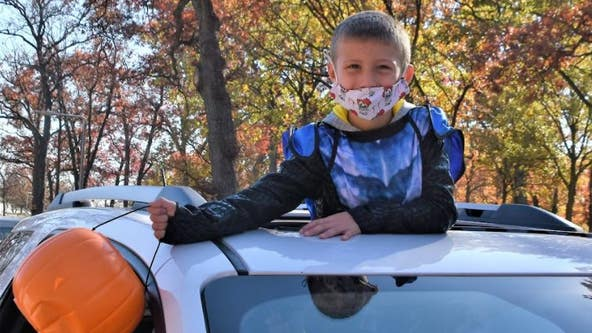 Aurora's drive-thru trick-or-treating is so popular, there's already a waiting list