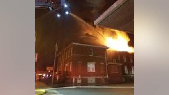 Fire burns through roof of church rectory in northwest Indiana