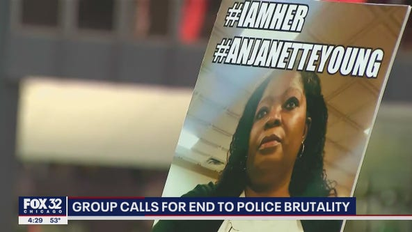 Anjanette Young joins protesters on Daley Plaza, calls for end to police brutality: 'I refuse to be silent'