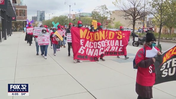 McDonald's workers walk off the job to protest sexual harassment