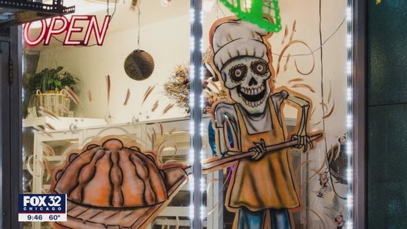 Sugar Skull City: Aurora celebrating Day of the Dead