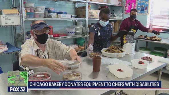 Chicago bakery donates equipment to chefs with disabilities
