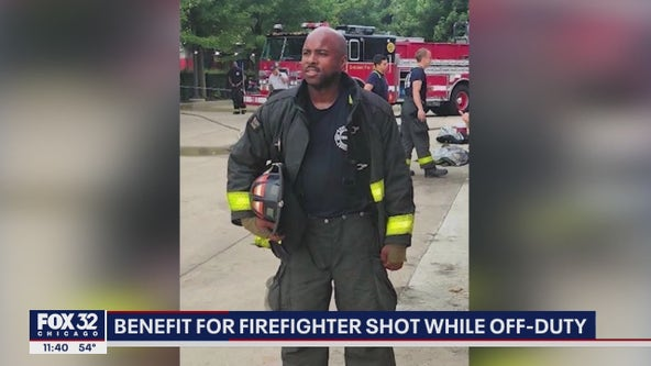 Fundraiser held for Chicago firefighter who was shot in the face last month