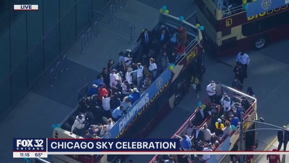 Chicago Sky parade: City celebrates first WNBA title with rally downtown