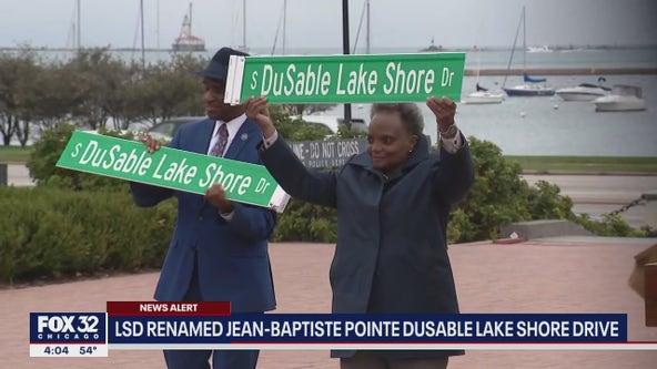 Lake Shore Drive officially renamed Jean-Baptiste Pointe Dusable Lake Shore Drive