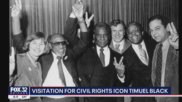 Visitation held for Chicago civil rights icon Timuel Black
