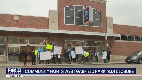 Community protests closure of West Garfield Park Aldi