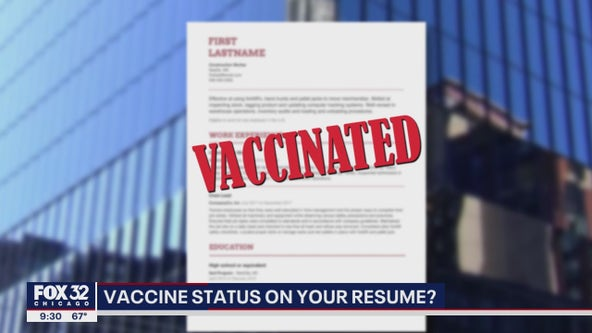 Some job experts say that putting your vaccine status on your resume could help you get hired