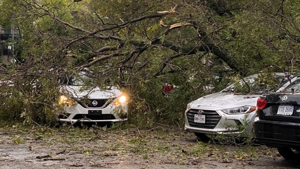 Nearly 20,000 without power, 100+ canceled flights after storms whip up 48 mph gusts, dump 2 inches of rain