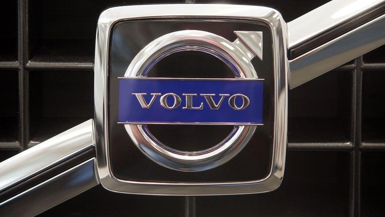 volvo logo on car grill
