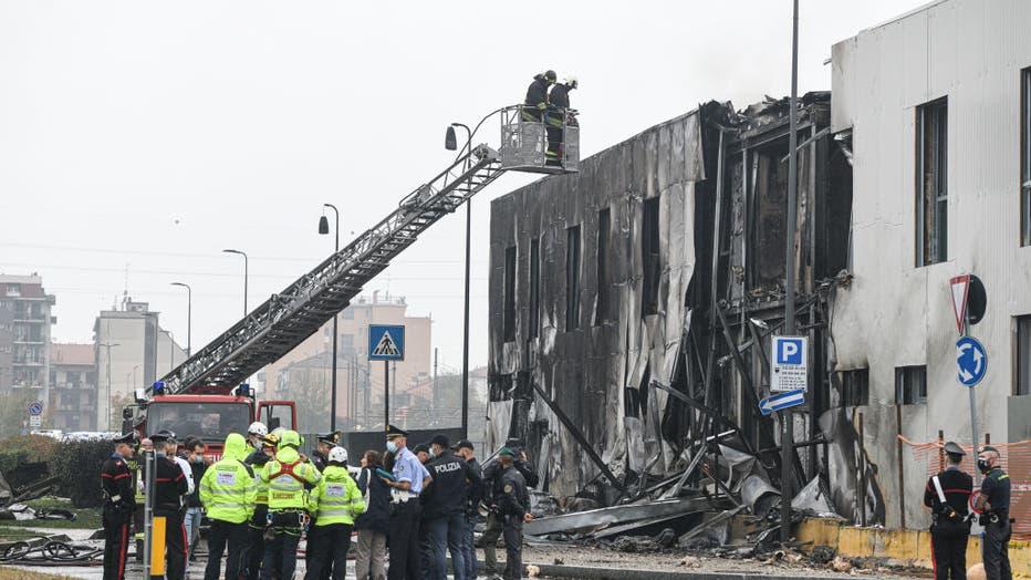 Plane accident in San Donato, Milan