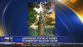 Lighthouse statue at Disney to honor boy killed by gator