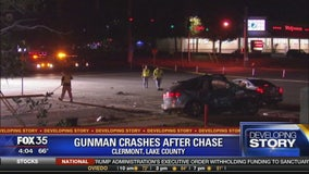 Gunman crashes after chase