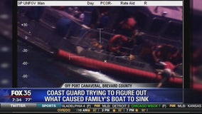 Coast guard trying to figure out what caused family's boat to sink