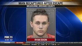 Man recaptured after escape