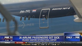26 airline passengers get sick
