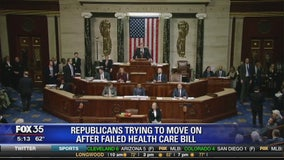 Republican party trying to move on after failed health care bill
