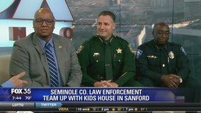 Seminole County law enforcement team up with kids house in Sanford