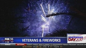 Veterans and fireworks