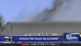 SpaceX fire ruled an accident