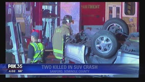 Two killed in SUV crash